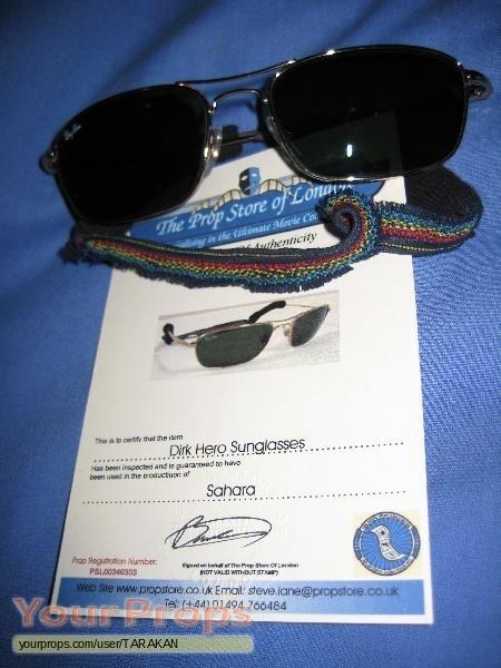 Used Ray Ban Sunglasses  sahara screen used dirk pitt ray ban sunglasses original movie prop
