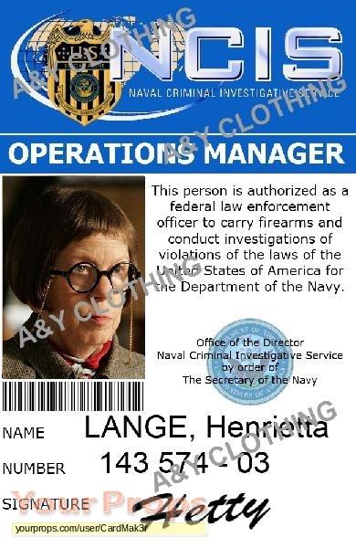 NCIS: Los Angeles, ID CARD NCIS LA - HETTY LANGE