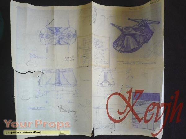 Stargate sg 1 production used blueprint of machellos mind transfer original movie prop malvernweather Choice Image