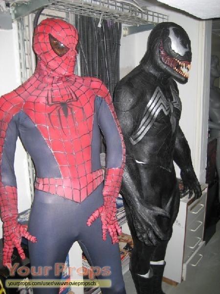 Spider-Man 3 replica movie costume & Spider-Man 3 Spiderman and Venom costume replica movie costume