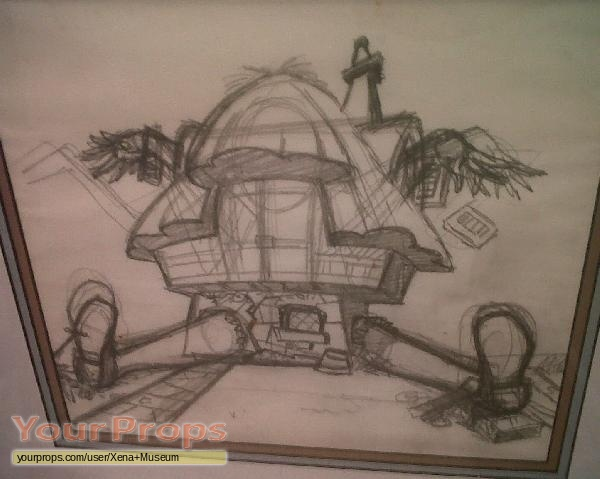 Alice In Wonderland Animation Drawing Of Alice In The White Rabbit S House Original Prod Artwork
