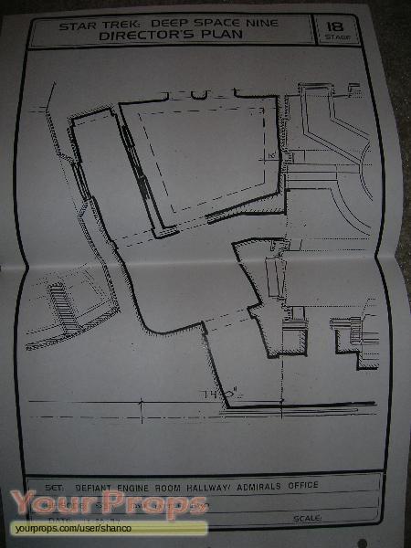 Space Engine Room: Star Trek: Deep Space Nine Director's Plan Blueprint