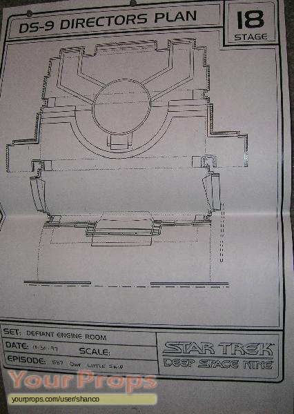 Spaceship Engine Room: Star Trek: Deep Space Nine Director's Plan Blueprint
