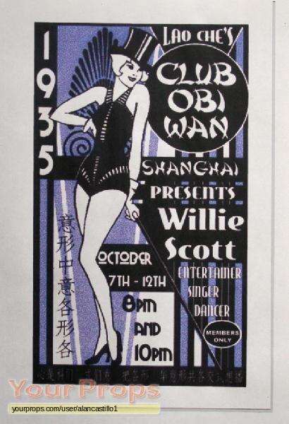 Indiana Jones And The Temple Of Doom, Club Obi Wan Poster