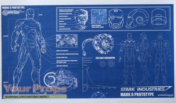 Iron man 2 mark 6 blueprint replica movie prop iron man 2 replica movie prop malvernweather Image collections