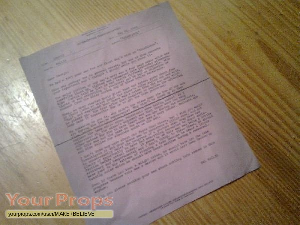 Casablanca Inter Office Communication May 26, 1942 copy replica prod ...