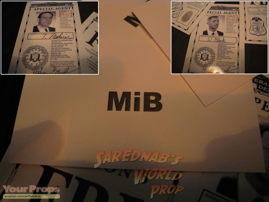 Men In Black Mib Id Cards Replica Movie Prop