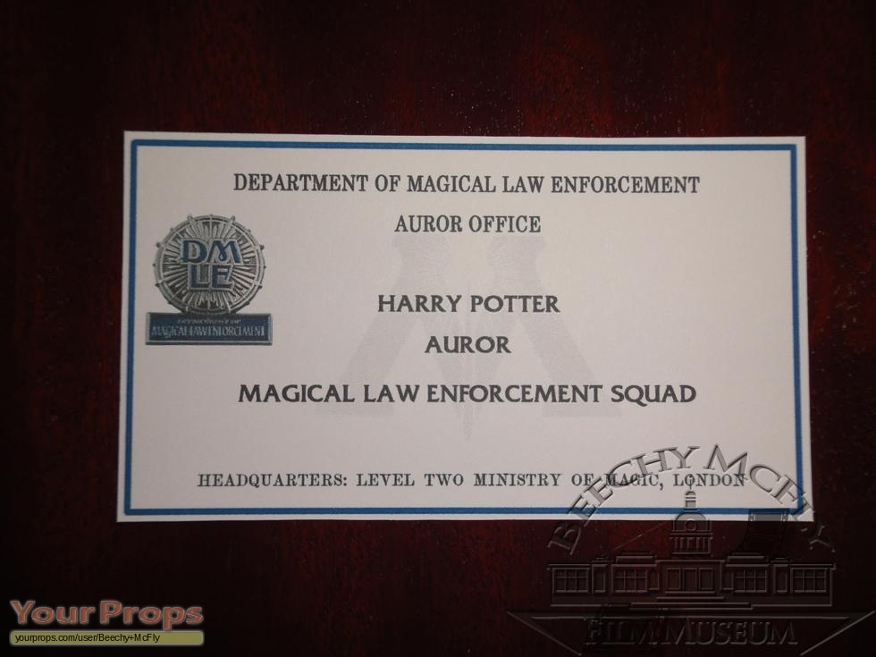Harry Potter Movies Harry Potter Auror Business Card.. replica ...