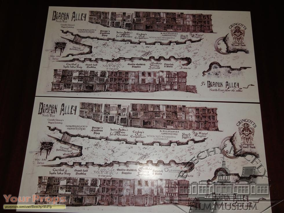 Harry Potter Movies Diagon Alley Maps.. replica movie prop on iowa county map, j.k. rowling map, ministry of magic map, wizard map, harry potter alley map, charing cross galloway street map, oklahoma tornado alley map, chamber of secrets map, hogwarts map, home map,