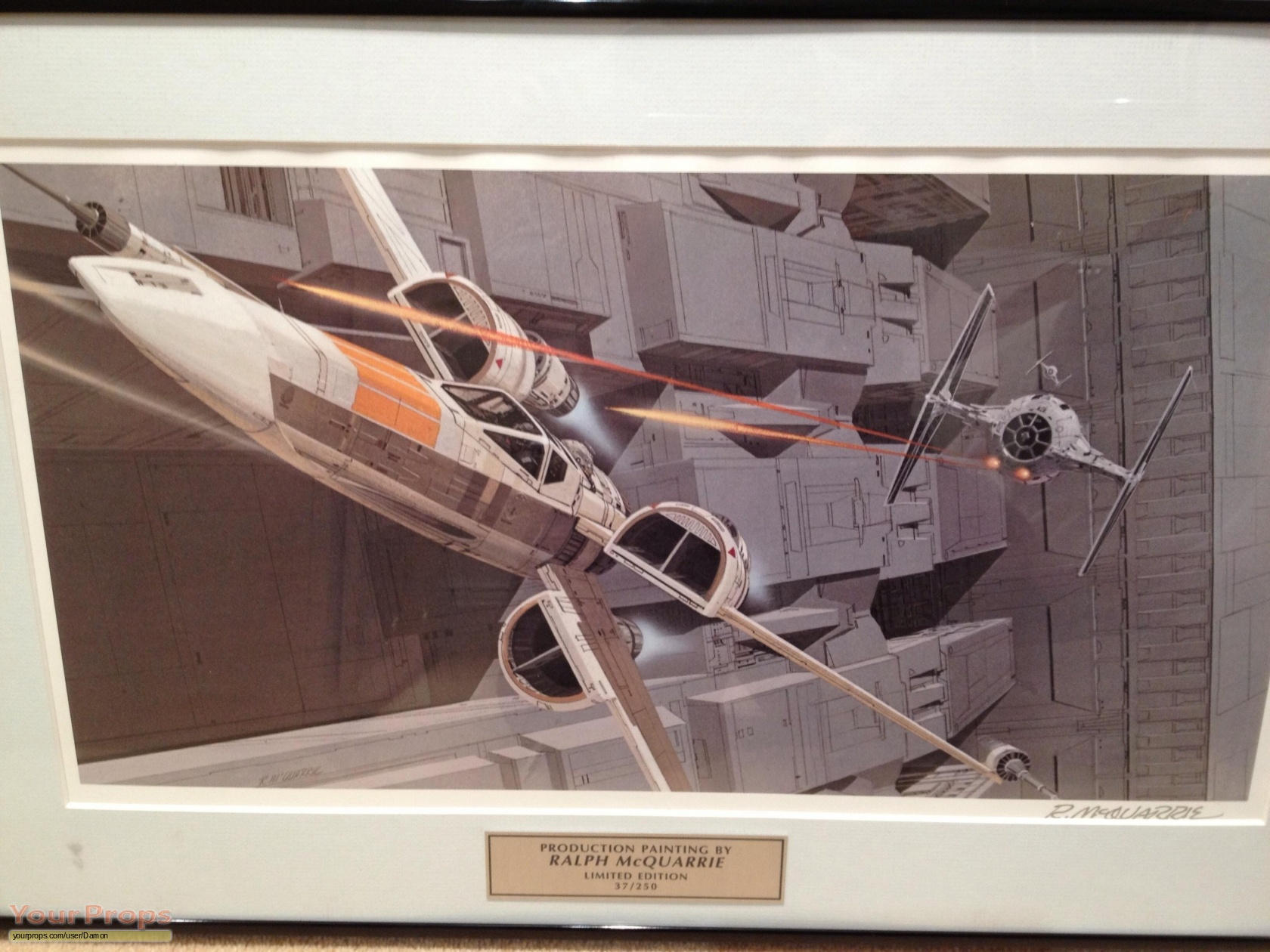 Star Wars A New Hope Replica Production Artwork