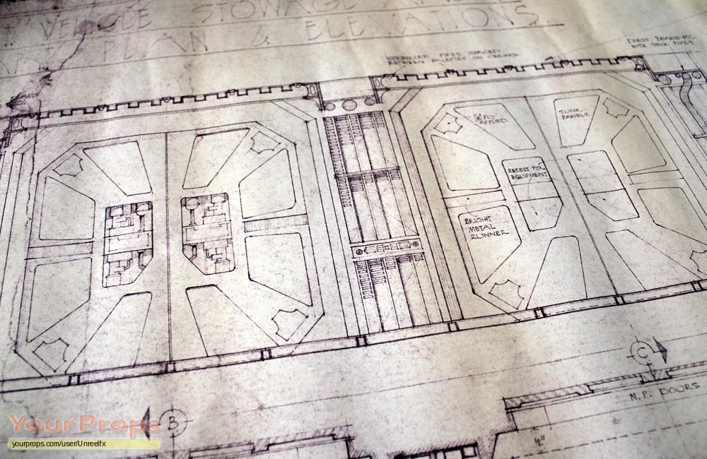 Alien nostromo stowage area blueprint original prod material alien original production material malvernweather Images