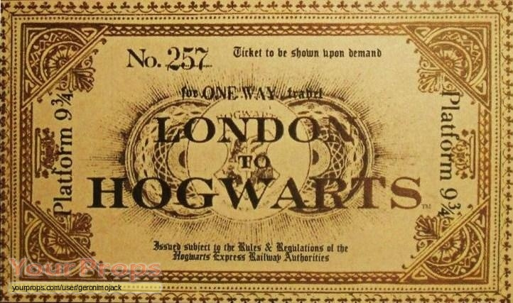 harry potter and the philosophers stone train ticket