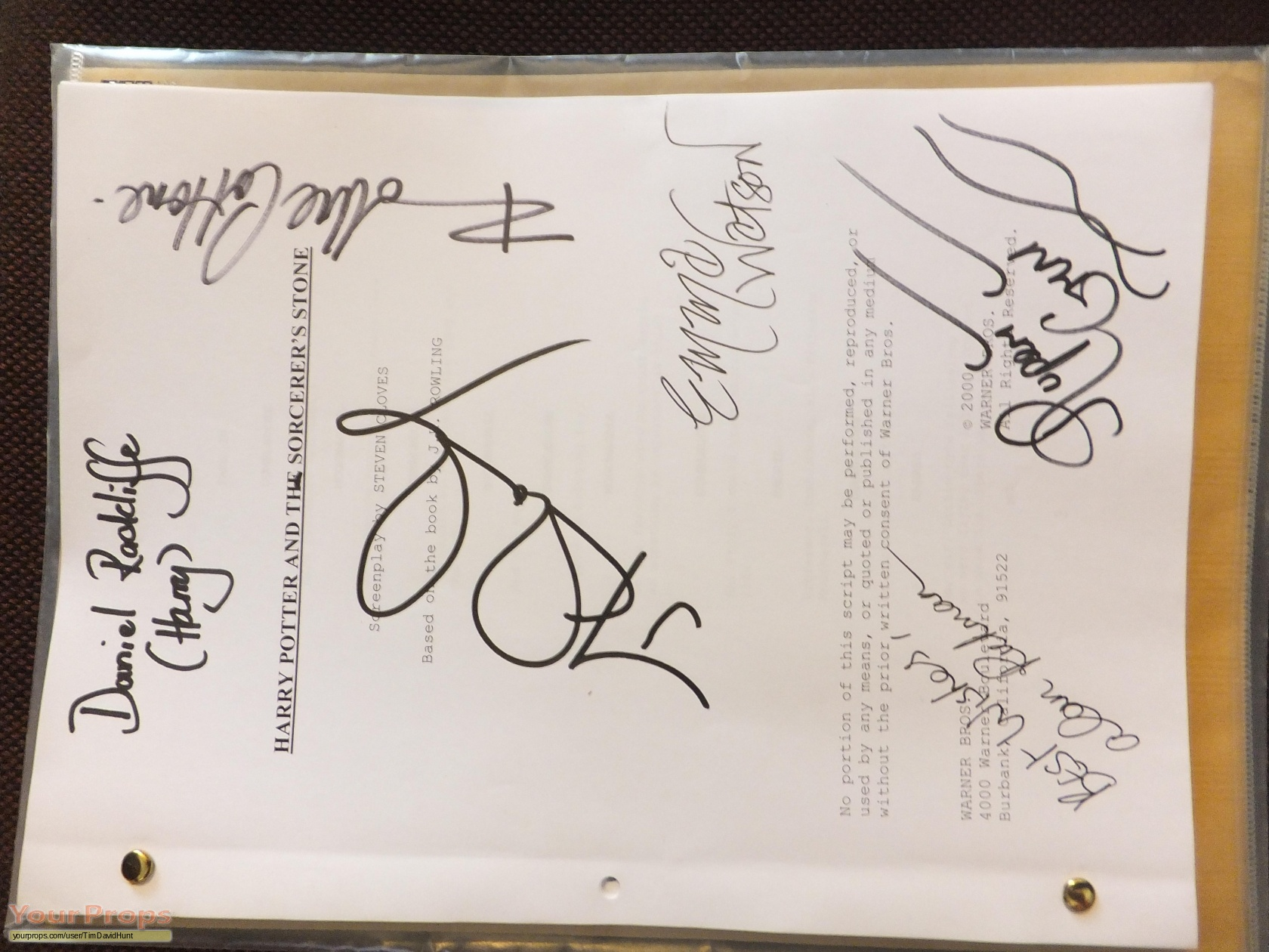 Harry Potter And The Philosopher 39 S Stone Cast Signed