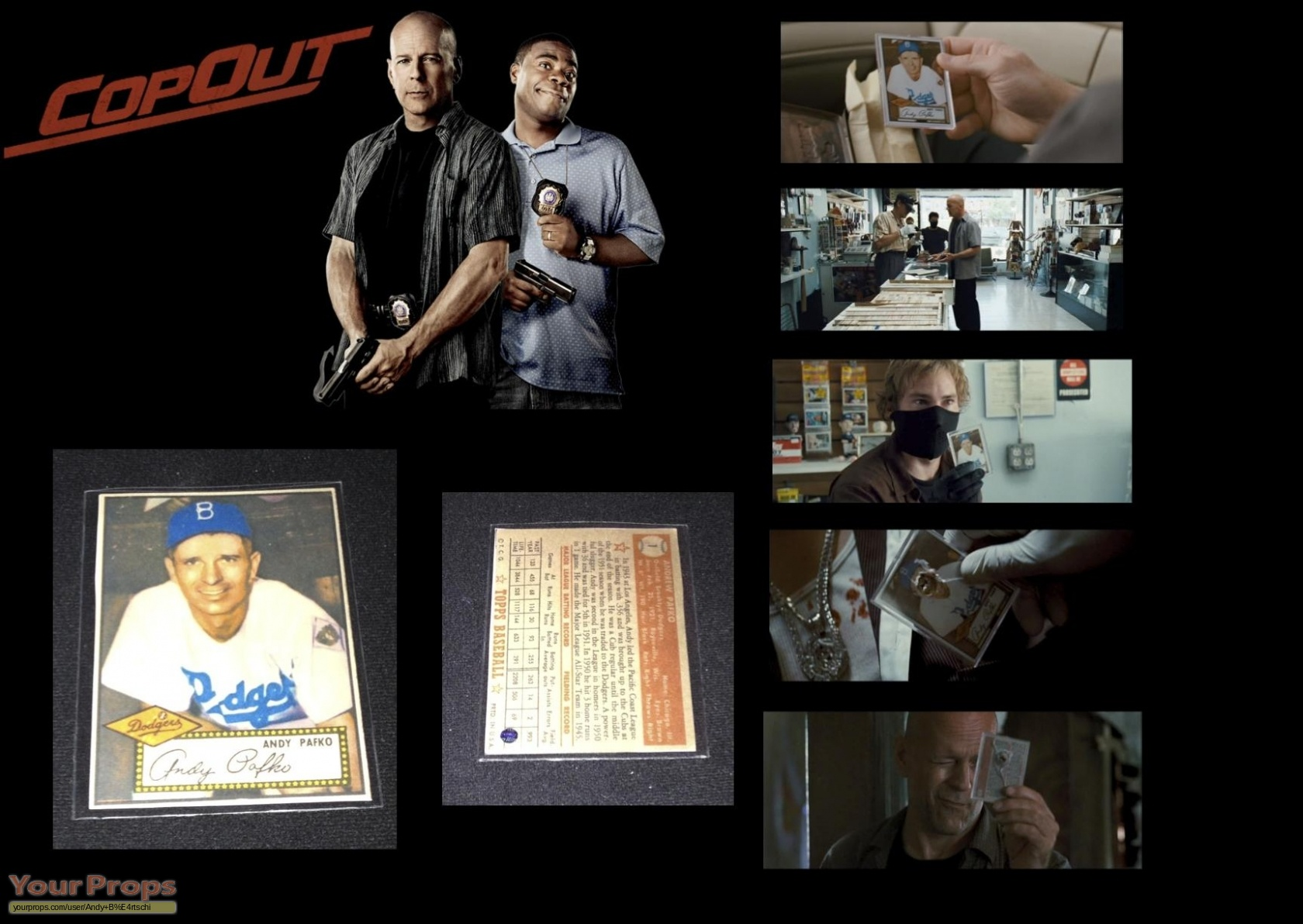 Cop Out Andy Pafko Baseball Card Original Movie Prop