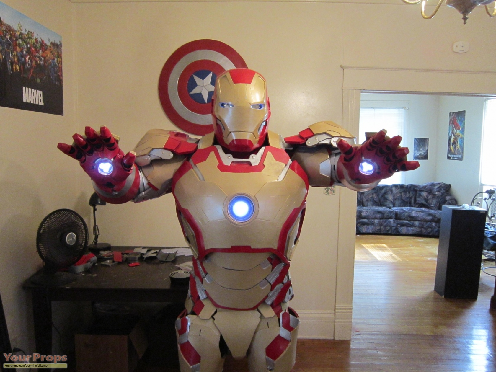 Iron Man 3 Men's Large Mark 42 Armor Replica Costume made ...