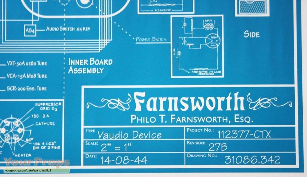 Warehouse 13 Farnsworth Blueprint Replica Tv Series Prop