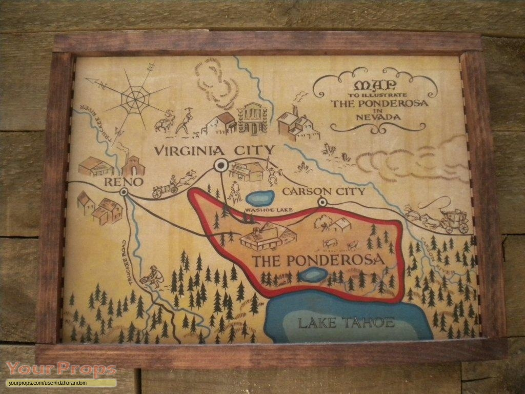 Bonanza Ponderosa Map replica set dressing on bonanza ranch nevada map, nevada ponderosa ranch map, idaho craters of the moon map,