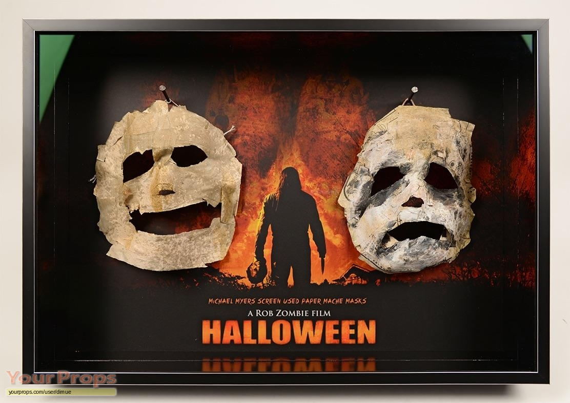 halloween (rob zombie's) asylum cell paper myers mask display#2