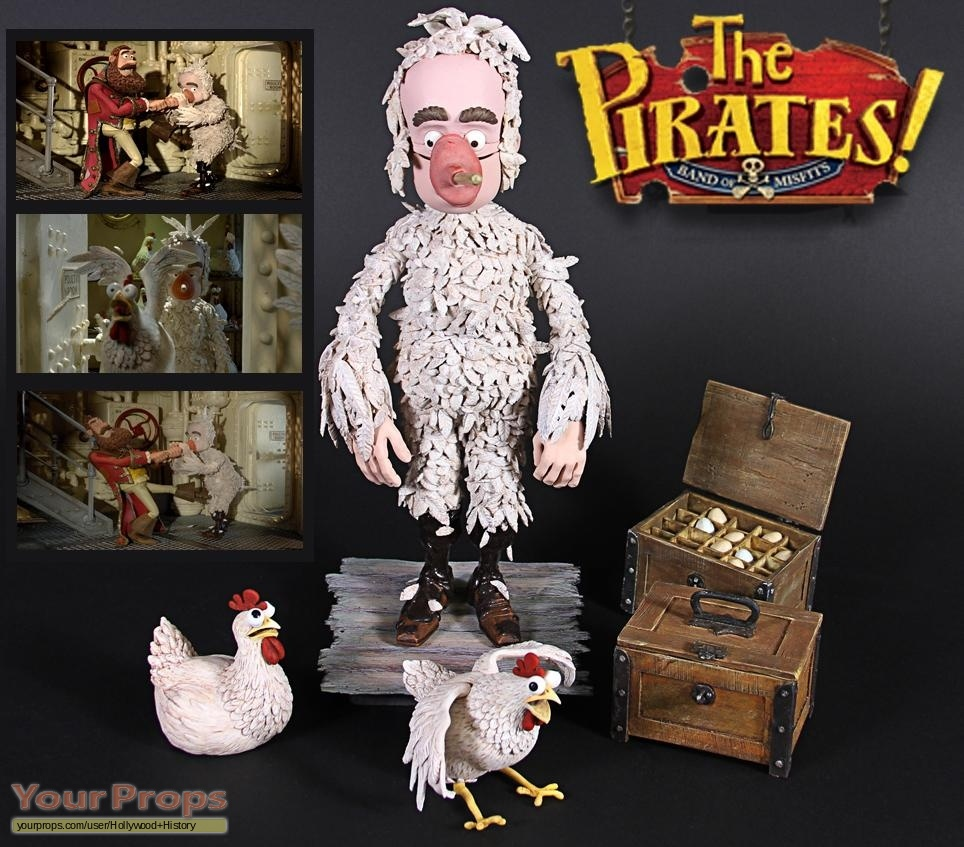 The Pirates The Band Of Misfits Charles Darwin David Tennant Stop Motion Puppet Props Original Movie Prop