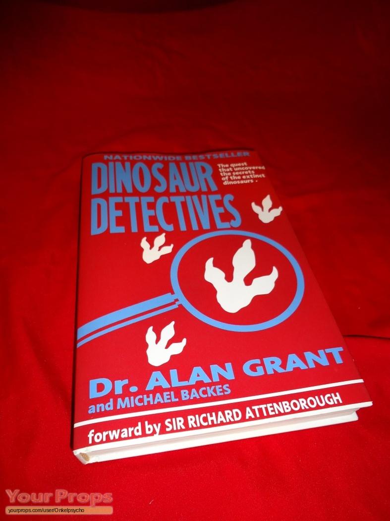 jurassic park dinosaur detectives book replica movie prop