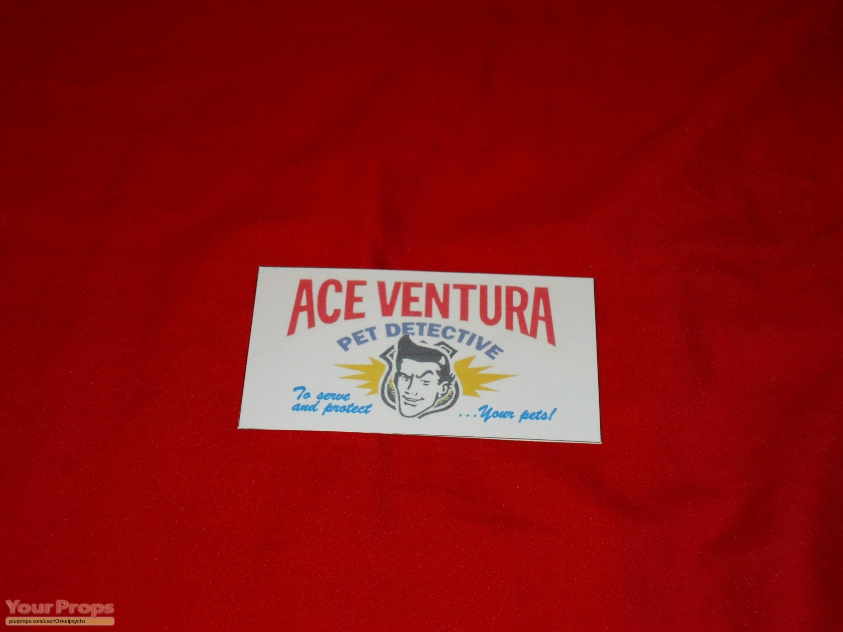 Ace Ventura: Pet Detective Business Card replica movie prop