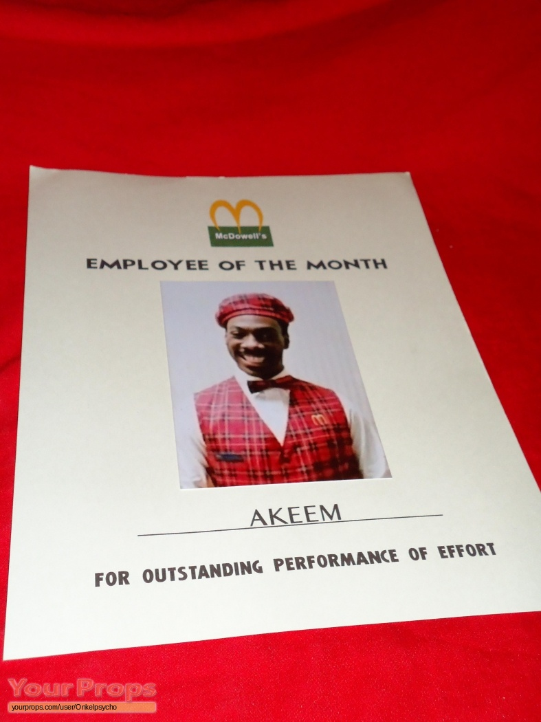 coming to america employee of the month picture replica movie prop