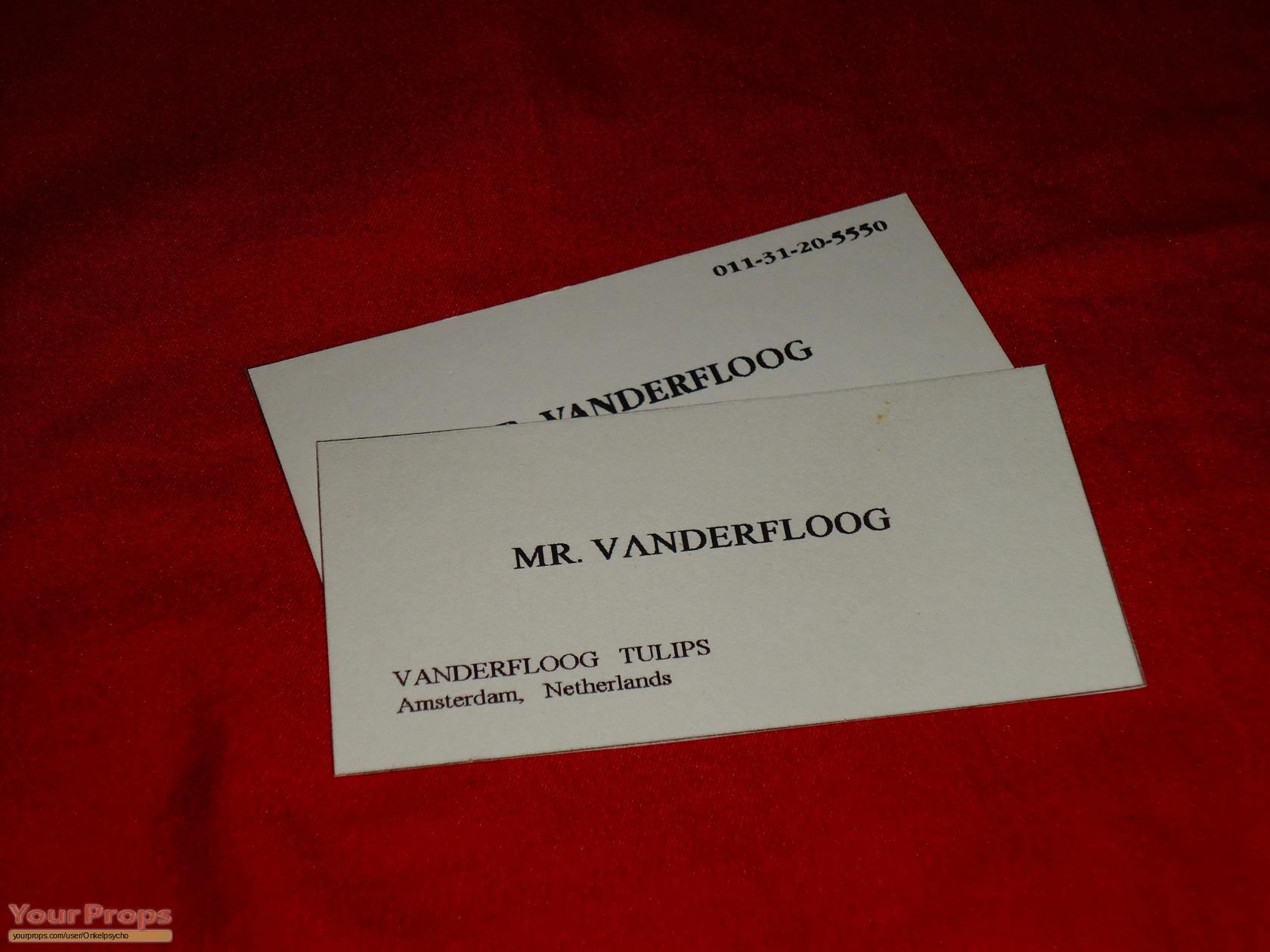 Die Hard: With A Vengeance Mr. Vanderfloog Fake Business Card ...