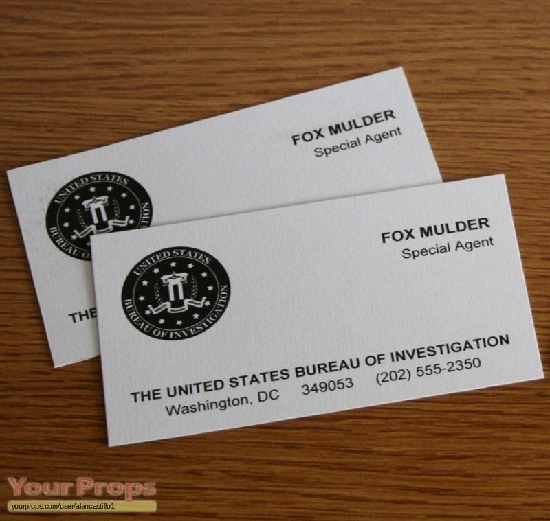 The X Files Fox Mulder Fbi Business Cards Replica Tv Series Prop