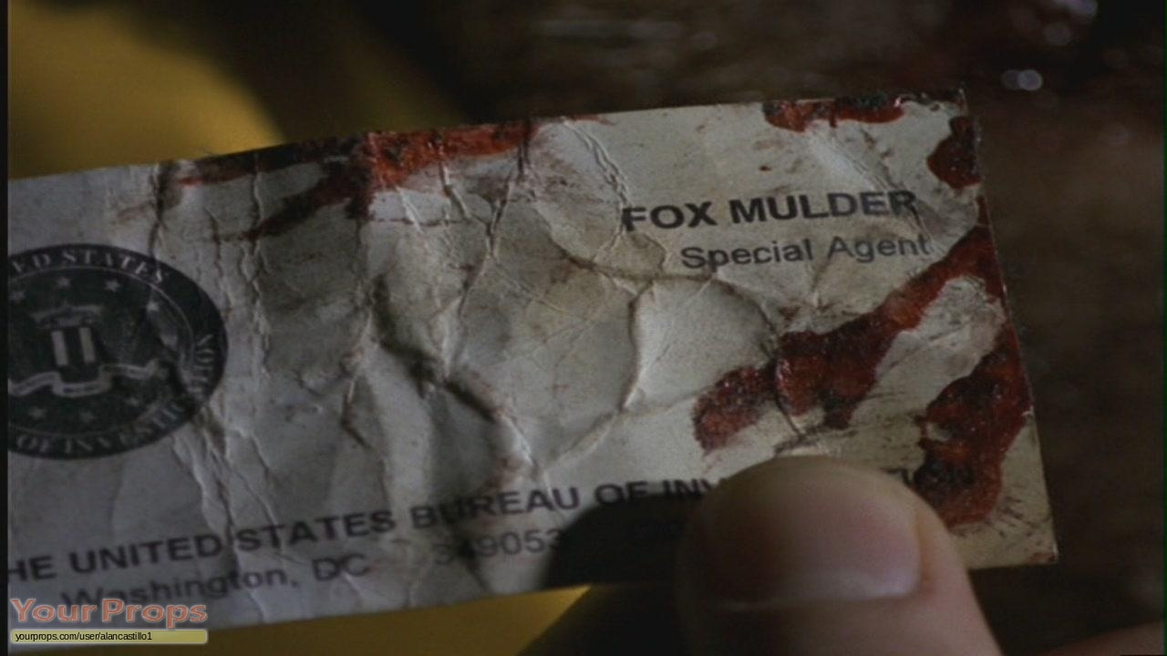 The x files fox mulder fbi business cards replica tv series prop the x files fox mulder fbi business cards magicingreecefo Image collections