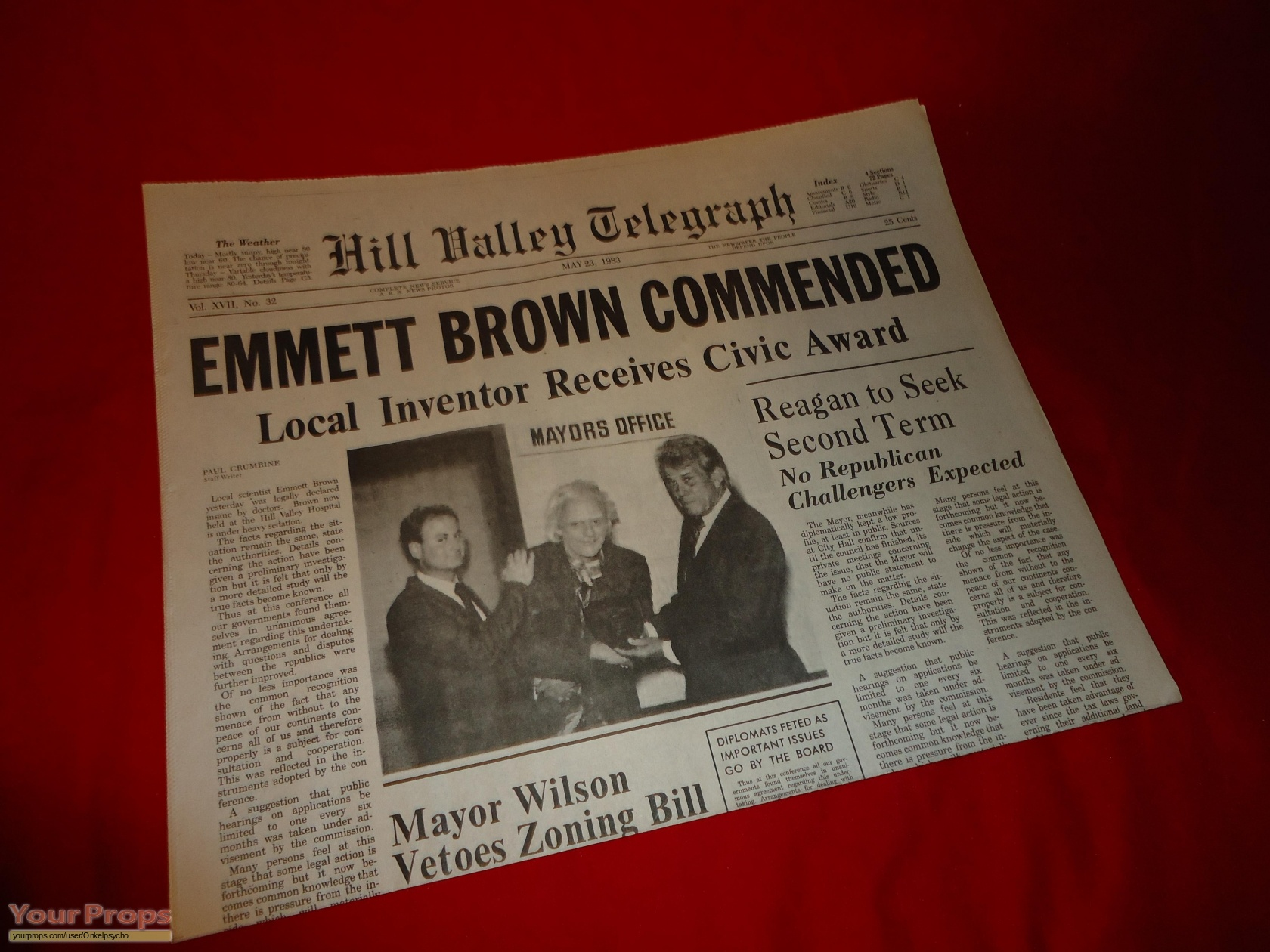Back To The Future 2 Hill Valley Telegraph Newspaper #4