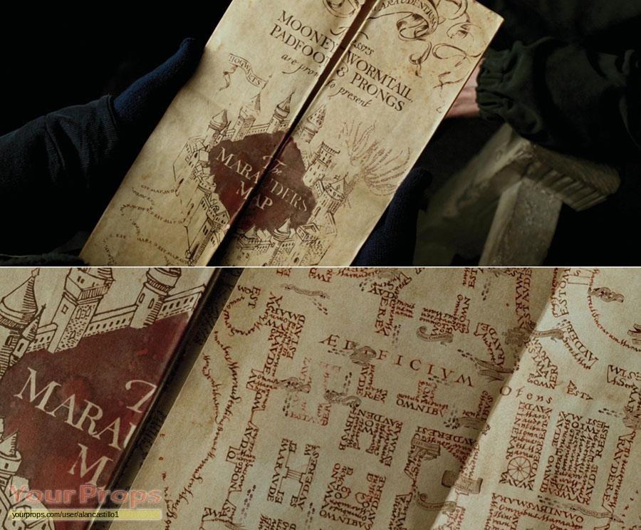Harry Potter Movies Marauders Map Replica Movie Prop