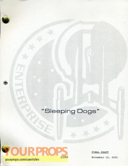 "Star Trek: Enterprise Script ""Sleeping Dogs"" original prod. material"