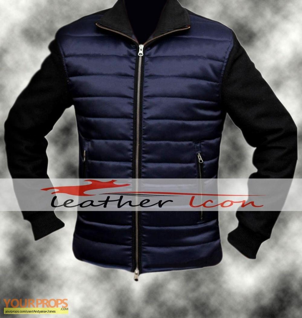 Daniel Craig Bomber Jacket SPECTRE James Bond knitted sleeve bomber jacket