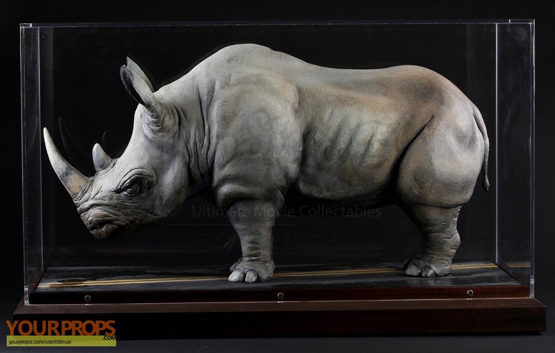 Jumanji Rhino Ilm Model Display With Info Sheet Original
