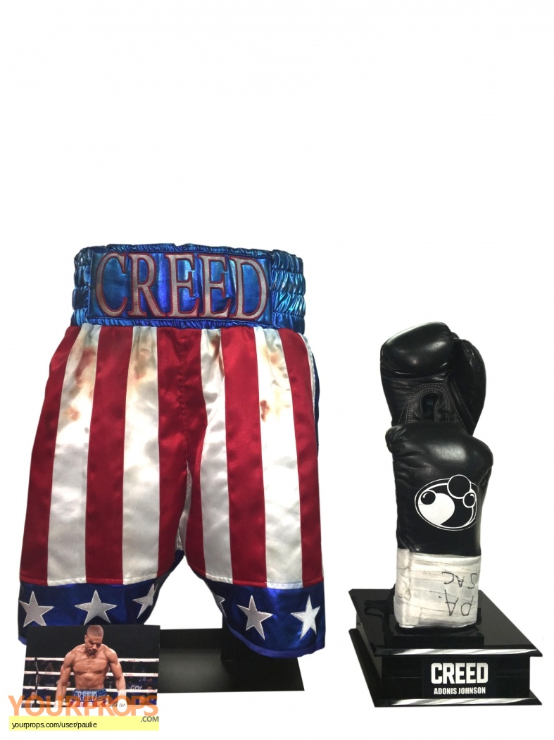 Creed Adonis bloody shorts and gloves original movie prop ada90127e688
