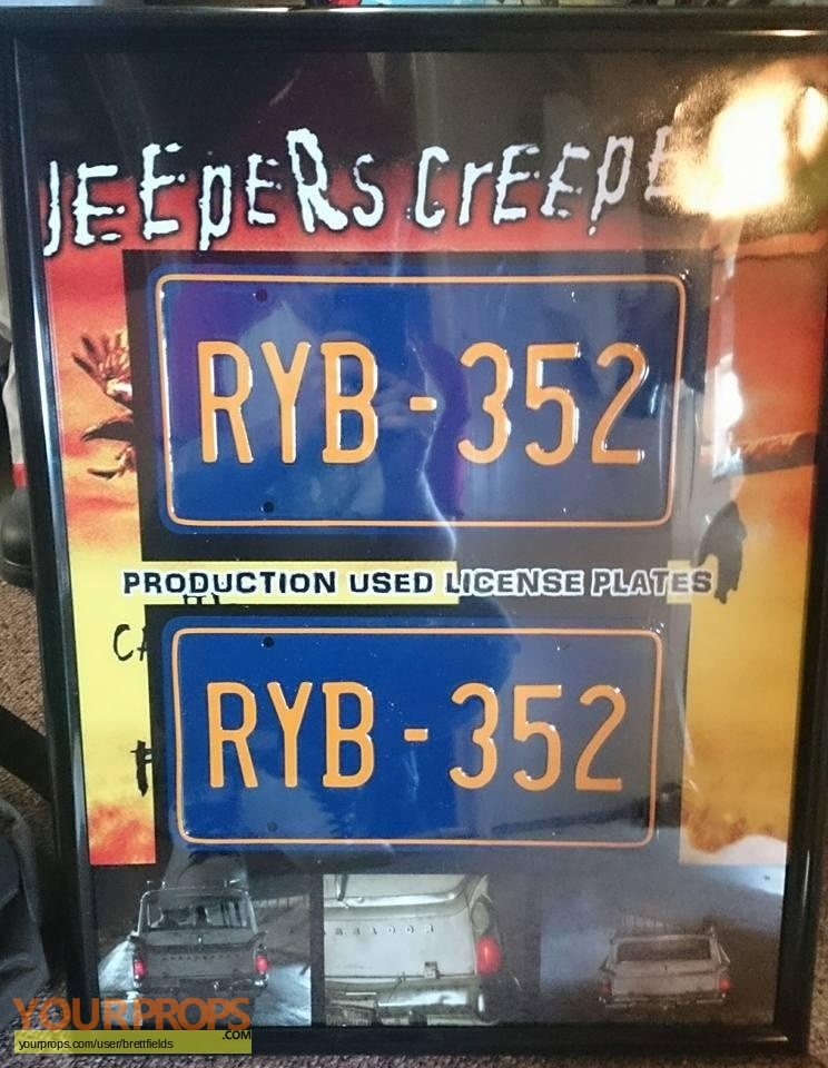 jeepers creepers 2 production made license plates from the rambler