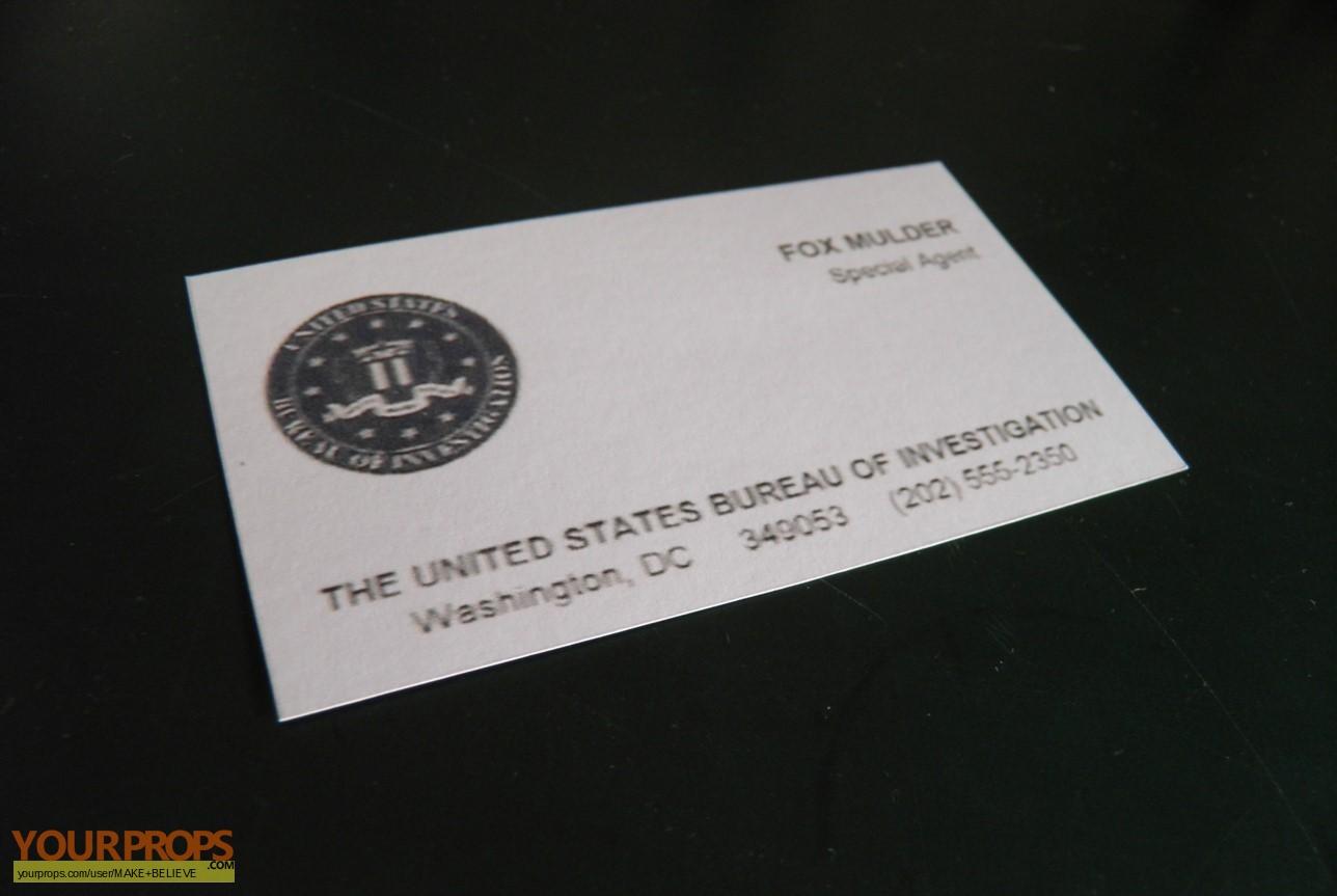 The X Files Fox Mulder business card replica replica TV series prop