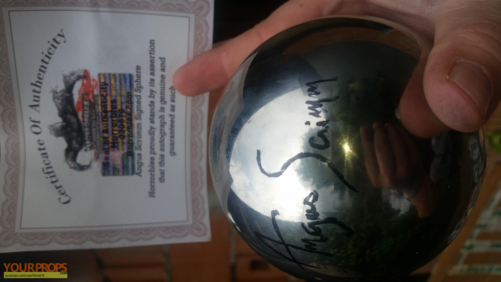 Phantasm Sphere With Signet Of Angus Scrimm Replica Movie Prop