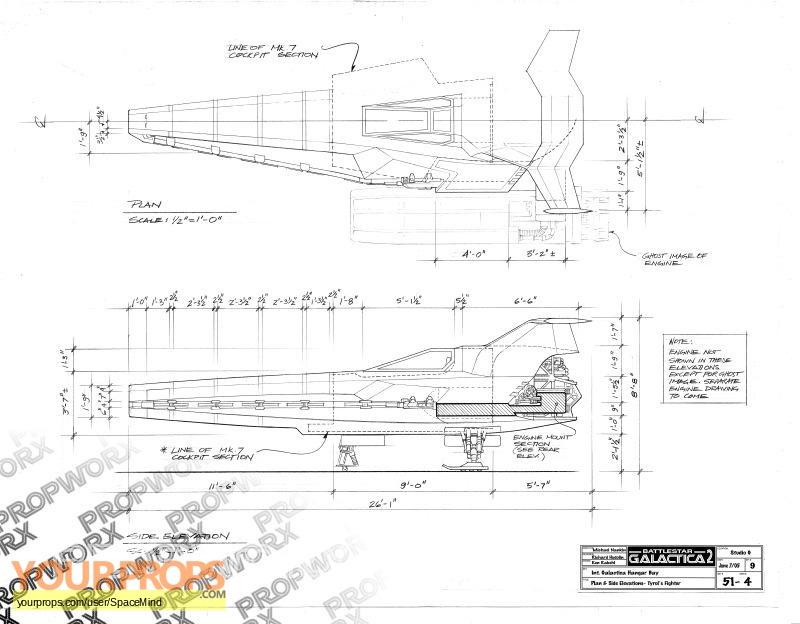 Battlestar Galactica Blackbird Blueprints Amp Concept