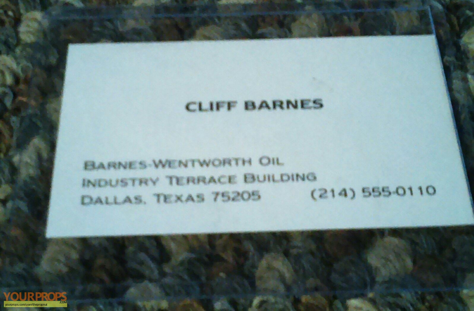 Dallas Cliff Barnes s production used business card
