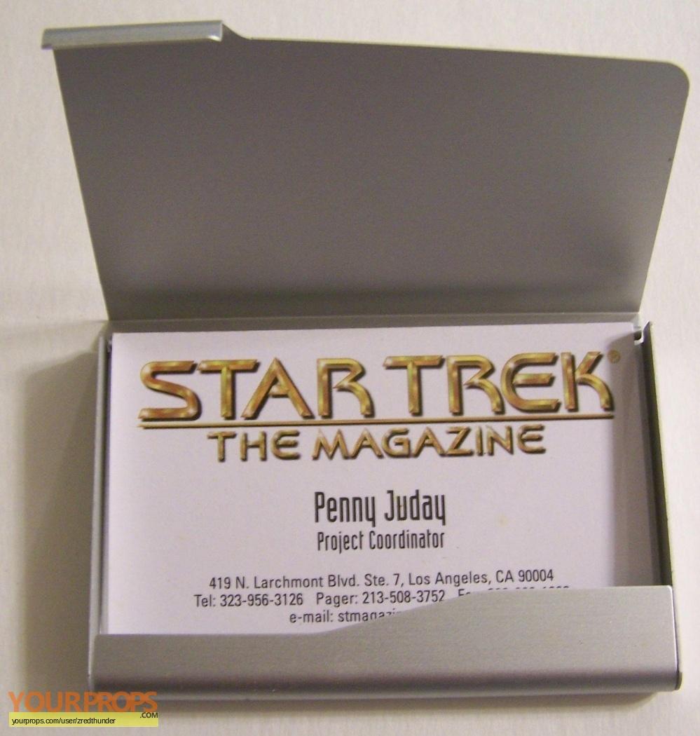 Star Trek The Magazine Penny Judays Business Card & Personal Card ...