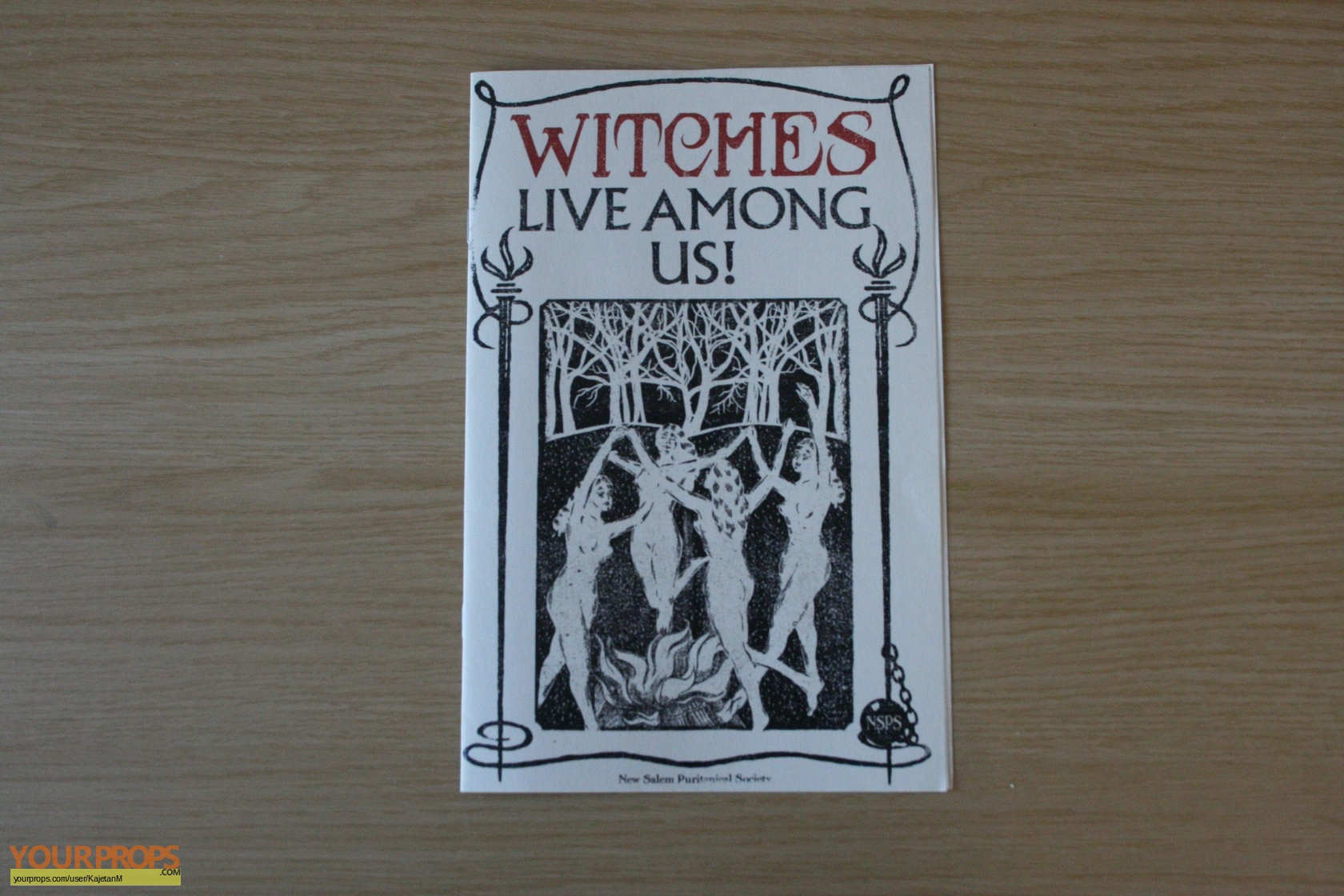 Fantastic Beasts Witches Live Among Us Pamphlet Original Movie Prop