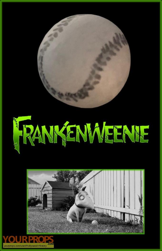 Frankenweenie Frankenweenie S Baseball Original Movie Prop