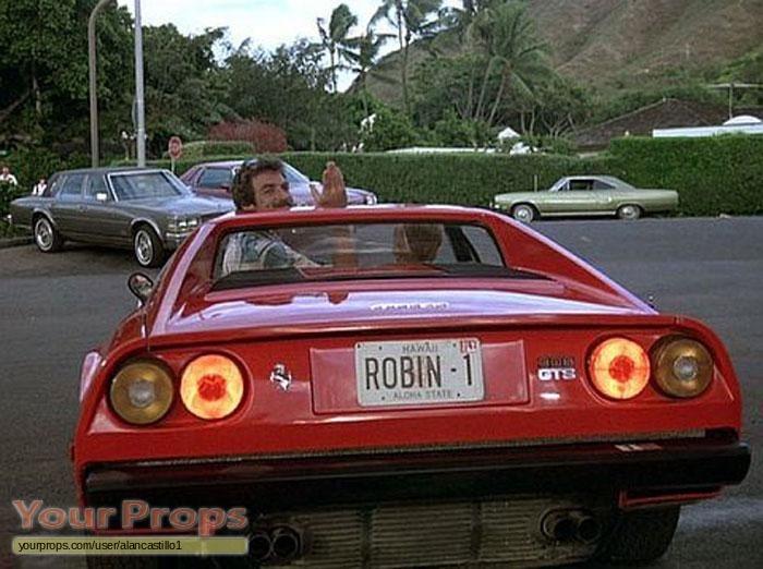 Magnum P I Robin Masters Ferrari Licence Plate Replica
