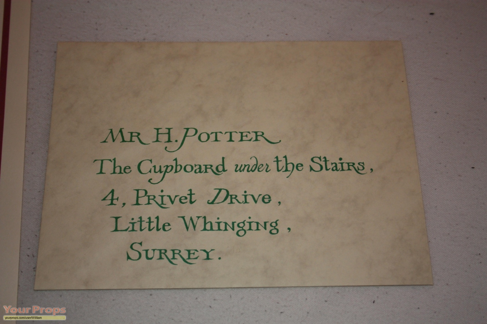 harry potter and the philosopher u0027s stone acceptence envelope