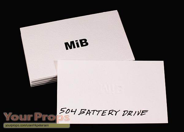 Men in black agent k business cards replica movie prop for Mib business card