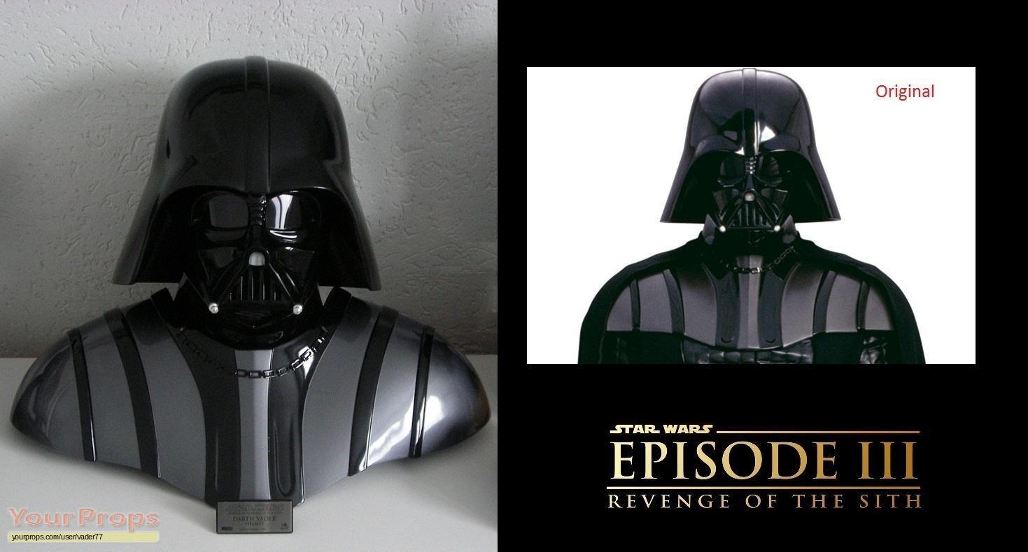 Star Wars Revenge Of The Sith Darth Vader Helmet Bust Rots Master Replicas