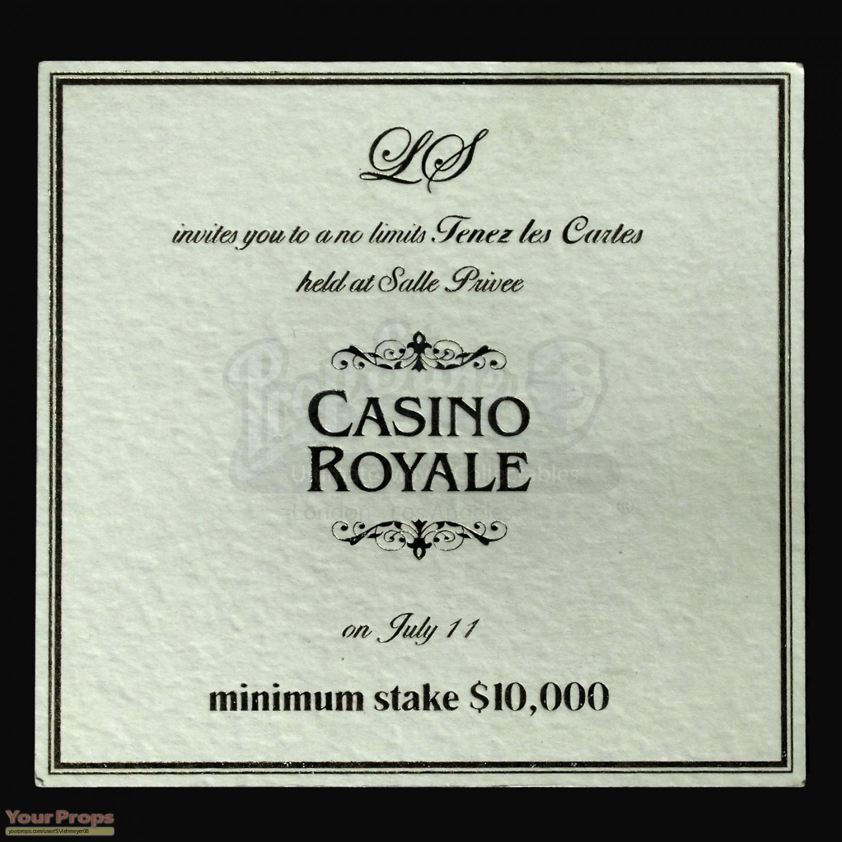 James bond casino royale poker invitation original movie prop james bond casino royale original movie prop stopboris Images