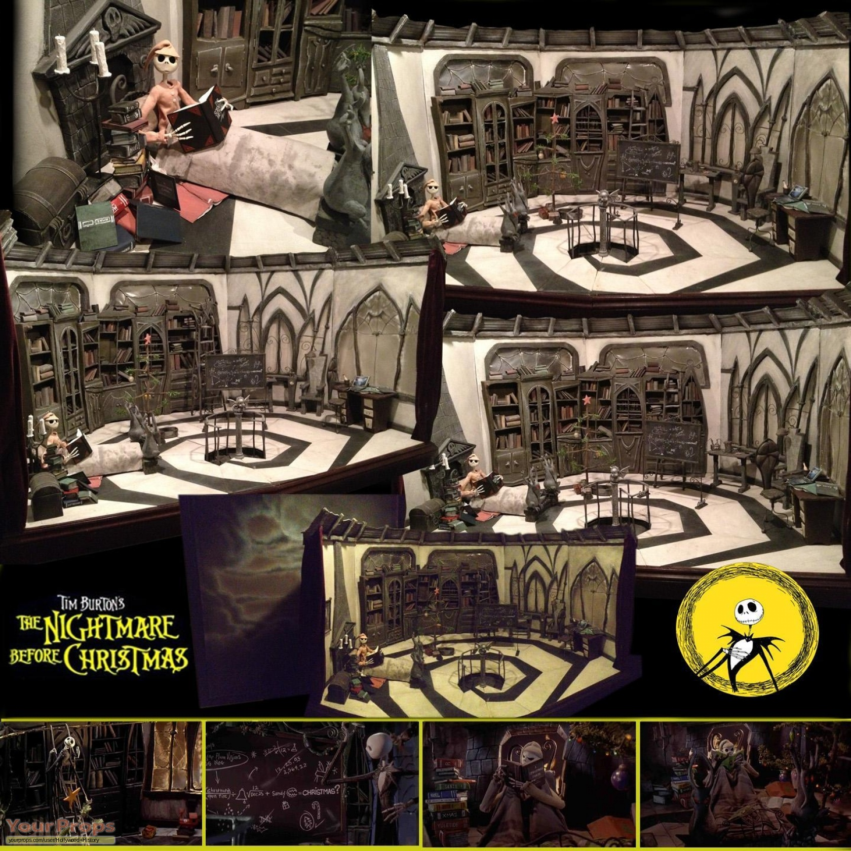 The Nightmare Before Christmas Jack Skellington\'s House Interior ...