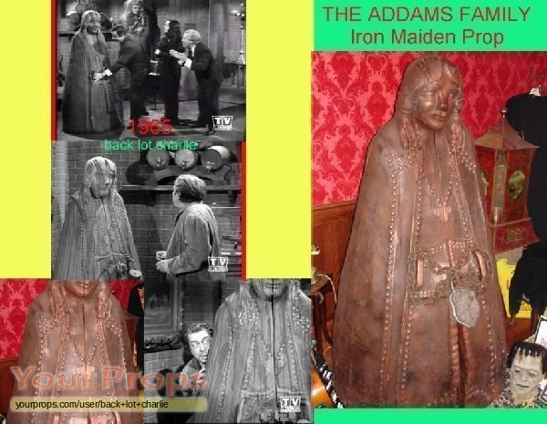 addams family  iron maiden torture device  addams family original set prop eiserne
